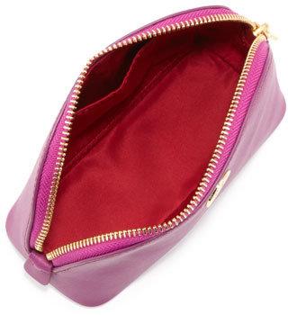 Tory Burch Robinson Makeup Bag, Royal Fuchsia