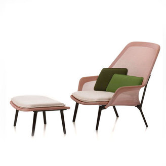 Vitra Slow Chair & Ottoman Pink