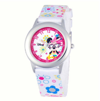 Character Disney Time Teacher Minnie Mouse Kids Floral Strap Watch