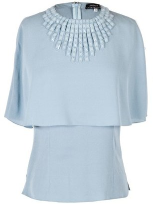 Andrew Gn Powder Blue Blouse