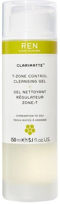 REN Clarimatte T-Zone Control Cleansing Gel, 150ml