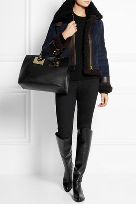 Sophie Hulme Textured-leather tote