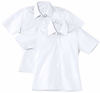 "Trutex Girl's Short Sleeve Easy Care Blouse (pack of 2),(Manufacturer Size: 40"" Chest)"