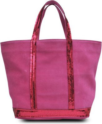 Vanessa Bruno Leather glitter medium tote