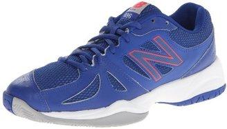 New Balance Women's WC696 Tennis Shoe,Blue/Pink,11 B US