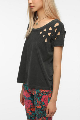 Truly Madly Deeply Lasercut Shoulder Tee