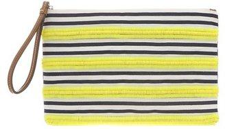 LOFT Sequin Stripe Pouch