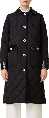 Jane Post Long Quilted Dressy Coat