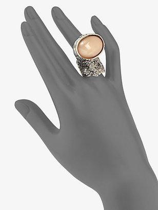 Saint Laurent Arty Ovale Ring/Silvertone