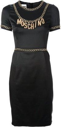 Moschino logo chain dress