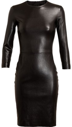 The Row Hentner Leather Pencil Dress