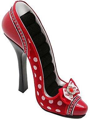 JCPenney Asstd National Brand Red Polka Dot Shoe Ring Holder