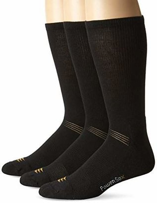 PowerSox Men's Coolmax Crew 3 Pack
