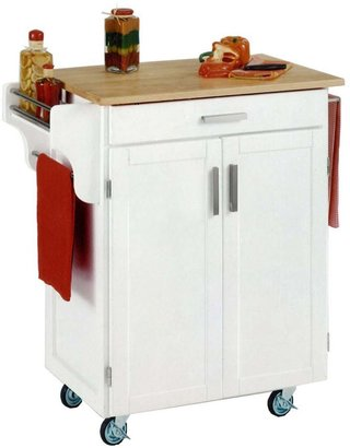 Home Styles Wood-Top Cuisine Kitchen Cart