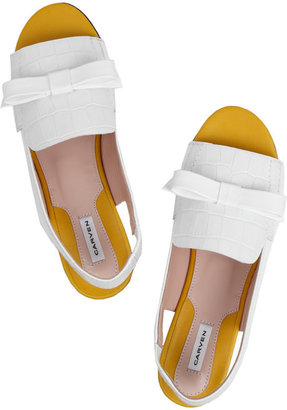 Carven Croc-effect leather sandals