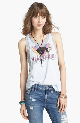 Free People Lace & Graphic Print Tank