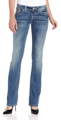 """Miss Me Womens Western Embellished Horse Shoe Wing Boot Cut Jeans 34"""" Inseam"""
