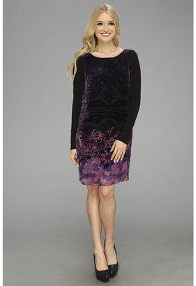 Hale Bob Elisa L/S Dress (Purple) - Apparel