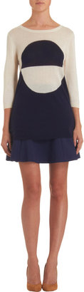 Lisa Perry Flared Skirt in Navy
