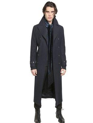 John Varvatos Wool/Cotton Blend Slim Fit Long Coat