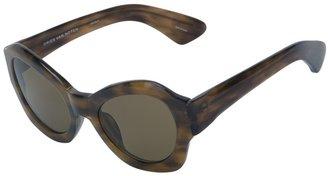Dries Van Noten Linda Farrow By angular sunglasses with case