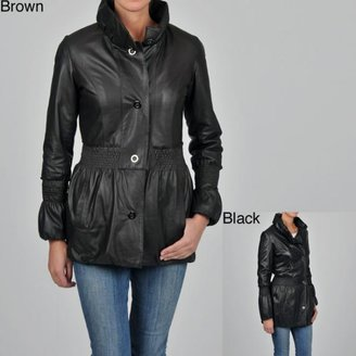 Knoles & Carter Women's Plus Size 3/4-length Puff Collar Smocked Jacket $115.99 thestylecure.com