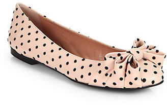 RED Valentino Polka Dot Leather Ballet Flats