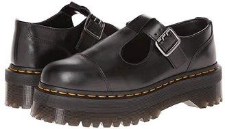 Dr. Martens Bethan T-Bar (Black Polished Smooth) Women's Shoes
