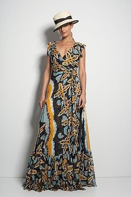 Diane von Furstenberg Maupiti Wrap Dress in Fiji Flower