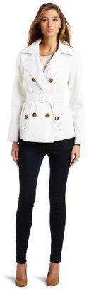 MICHAEL Michael Kors Women's Double Breasted Trench Coat