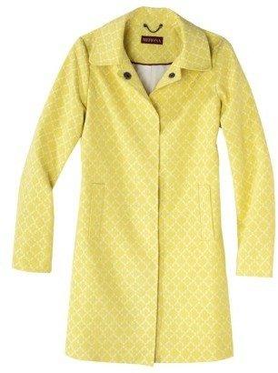 Merona Women's Printed Trench Coat -Yellow