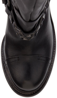 Vera Wang Kenya Harness Leather Knee Boot