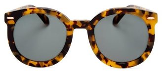 Karen Walker Super Duper Strength Round Frame Sunglasses - Womens - Tortoiseshell
