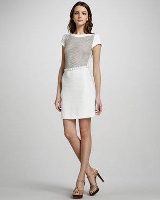 L'Agence Crochet-Bodice Dress