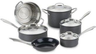 Cuisinart 10-pc. Nonstick GreenGourmet Hard Anodized Cookware Set