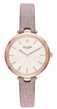Kate Spade Womens Holland Three-Hand Pink-Fabric Watch