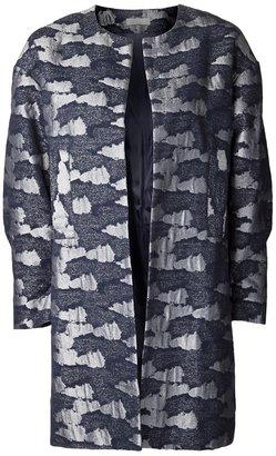 Michael Van Der Ham camouflage jacquard coat