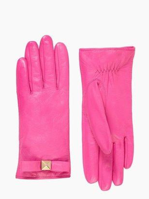 Kate Spade Pyramid bow leather glove