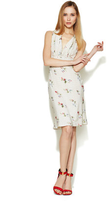 Valentino Silk Floral Bow Back Dress