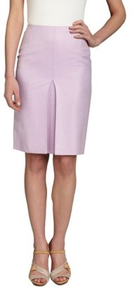 Loro Piana lavender cashmere-silk blend vented skirt