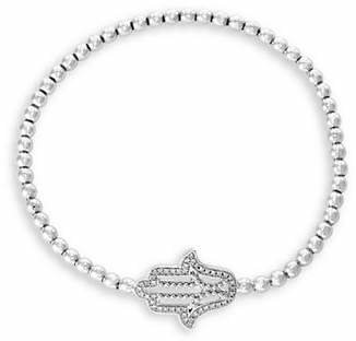 Effy 925 Sterling Silver and 0.13K Diamond Hamsa Hand Bracelet