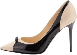 Jimmy Choo Kirsch Combo Bow Pump, Black
