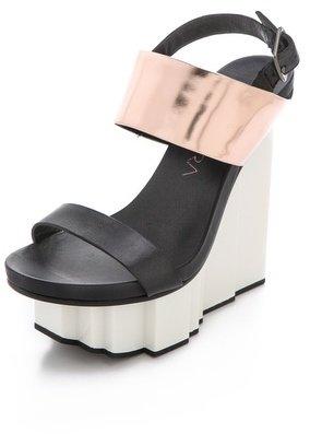 United Nude Rockerfeller Wedge Sandals