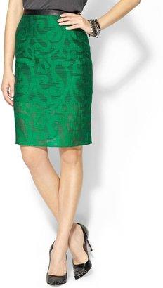 Tibi Damask Jacquard Skirt