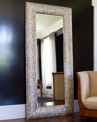 Horchow Mother-of-Pearl Floor Mirror