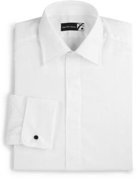 Saks Fifth Avenue Collection Herringbone Tuxedo Shirt