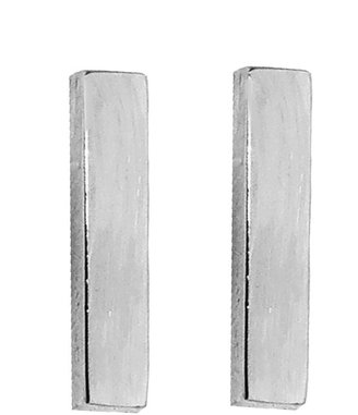 Jennifer Meyer Bar Stud Earrings - White Gold
