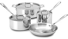 All-Clad Stainless Steel 7-Piece Cookware Set - 100% Exclusive