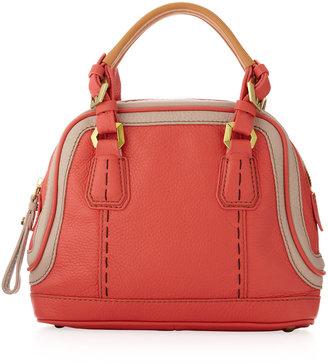 Oryany Trixie Colorblock Mini Satchel Bag, Clay/Coral