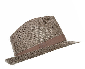 Topshop Plain Straw Trilby Hat